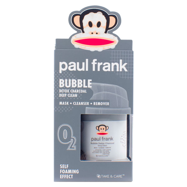TAKE & CARE PAUL FRANK BUBBLE DETOX CHARCOAL CLEAN