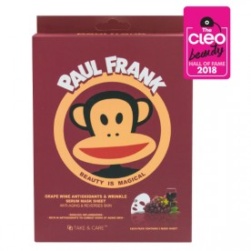 TAKE & CARE PAUL FRANK GRAPE WINE ANTIOXIDANTS & WRINKLE SERUM MASK SHEET