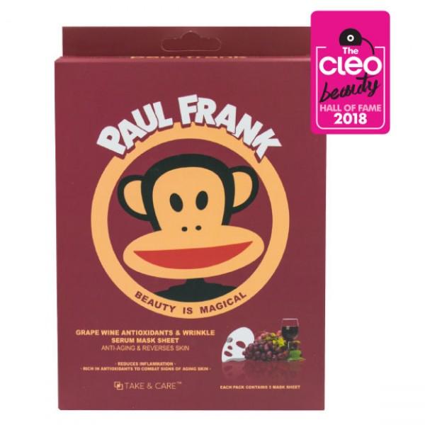 TAKE & CARE PAUL FRANK GRAPE WINE ANTIOXIDANTS & WRINKLE SERUM MASK SHEET