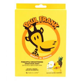 TAKE & CARE PAUL FRANK PINEAPPLE BRIGHTENING SERUM MASK SHEET