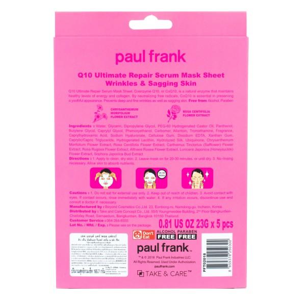 TAKE & CARE PAUL FRANK Q10 ULTIMATE REPAIR SERUM MASK SHEET