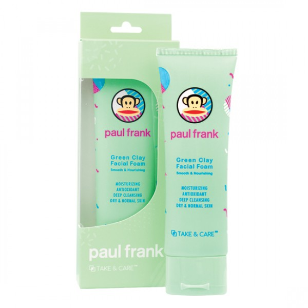 TAKE & CARE PAUL FRANK GREEN CLAY FACIAL FOAM