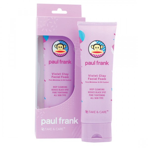 TAKE & CARE PAUL FRANK VIOLET CLAY FACIAL FOAM