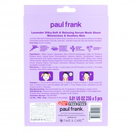 TAKE & CARE PAUL FRANK LAVENDER SILKY-SOFT & RELAXING SERUM MASK SHEET